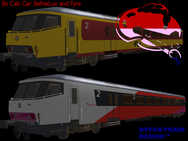 Msts dutch train design bs cab cars benelux fyra for Benelux cars